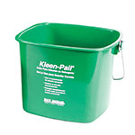 San Jamar KP196GN Kleen-Pail, 6 qt., Plastic, Green - Soaping Solution Printing