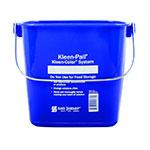 San Jamar KP196KCBL Kleen-Pail Kleen-Color System, 6 quart, Blue