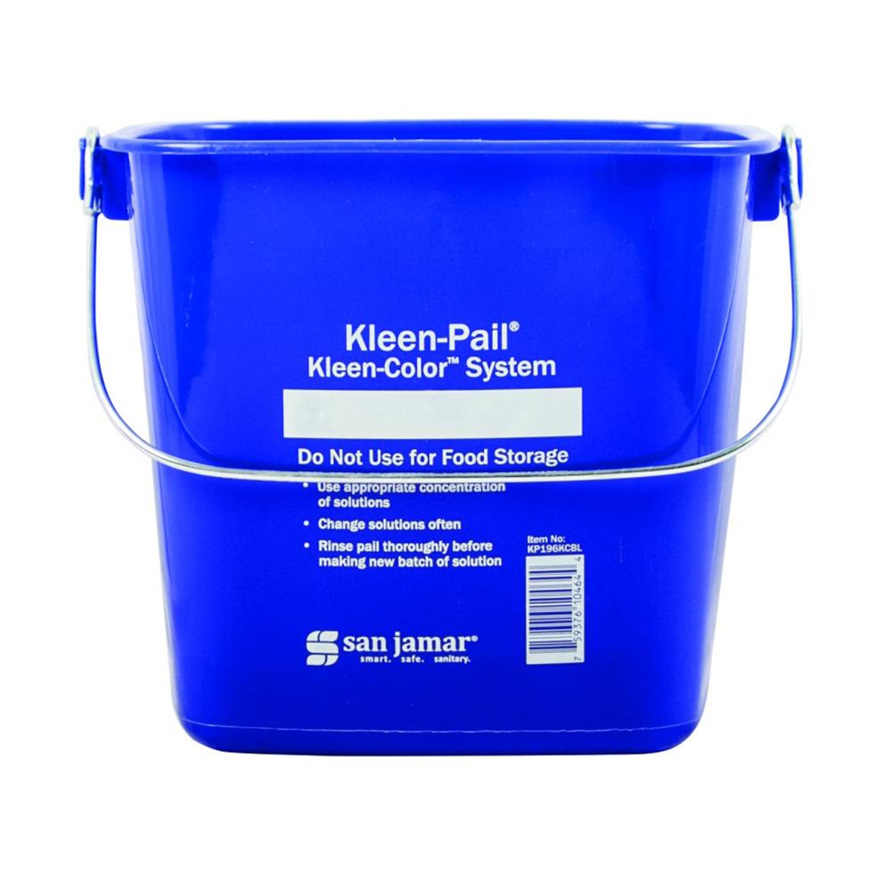 San Jamar / Katchall KP196KCGN Kleen-Pail Kleen-Color System 6 quart Green Restaurant Supply