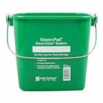 San Jamar KP196KCGN Kleen-Pail Kleen-Color System, 6 quart,  Green