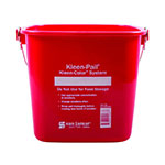 San Jamar KP196KCRD Kleen-Pail Kleen-Color System, 6 quart, Red