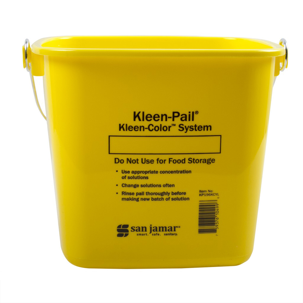 San Jamar / Katchall KP196KCYL Kleen-Pail Kleen-Color System 6 quart Yellow Restaurant Supply