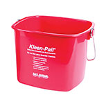 San Jamar KP256RD Kleen-Pail, 8 qt., Plastic, Red - Sanitizing Solution Printing