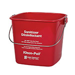 San Jamar KP97RD Kleen-Pail, 3 qt., Plastic, Red - Sanitizing Solution Printing
