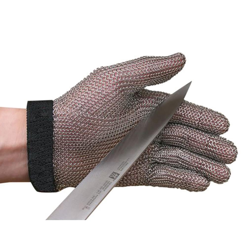 San Jamar MGA515M Chainex Cut Resistant Glove, 5 Finger, SS Mesh, Ambidextrous, Medium