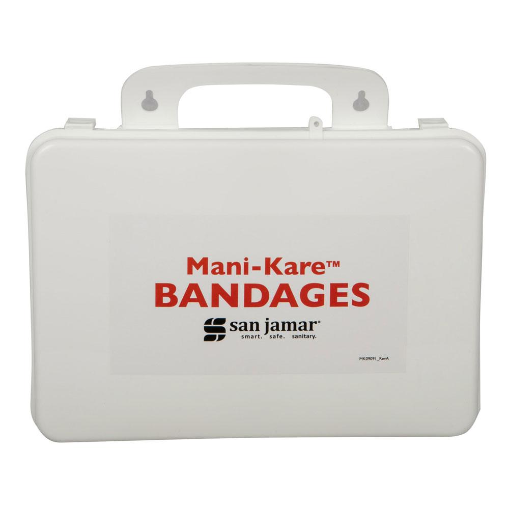 San Jamar MK0909 Bandage Kit with Storage Box, Blue