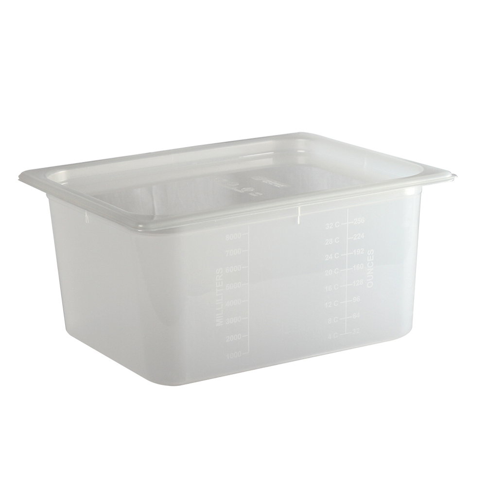 San Jamar MP12RD Half-Size ModPan Food Pan w/ Lid - Stackable, Polypropylene, Clear