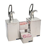 San Jamar P4826 Dual Condiment System, Stepped Condiment Trays, Metal