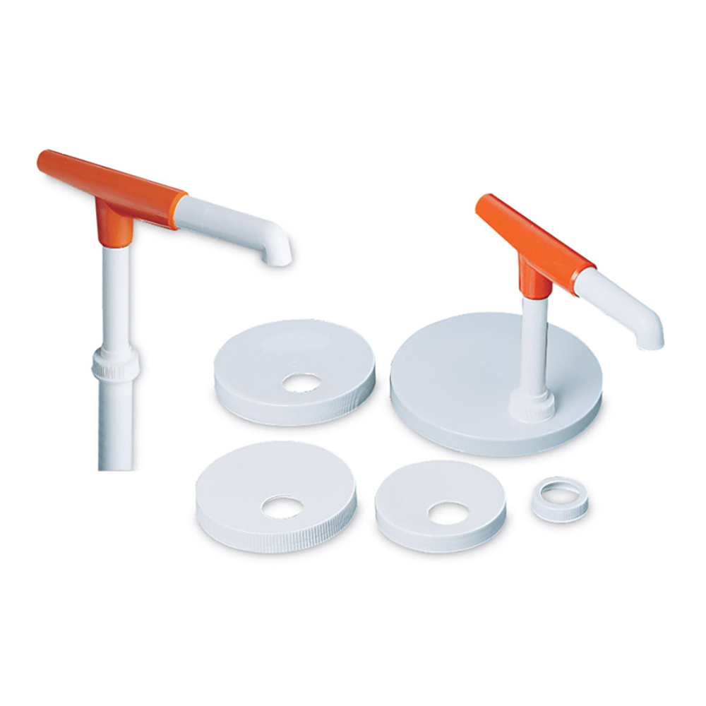 San Jamar P7410 Condiment Pump Kit w/ 1-oz/Stroke Capacity, Plastic, White
