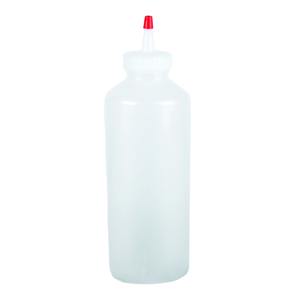 San Jamar P8024PK3 24-oz Professional Squeeze Bottle, Clear, Red Cap