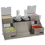 San Jamar P9724 Condiment Center (4) 1qt Inserts(2) 2.5 qt Jars