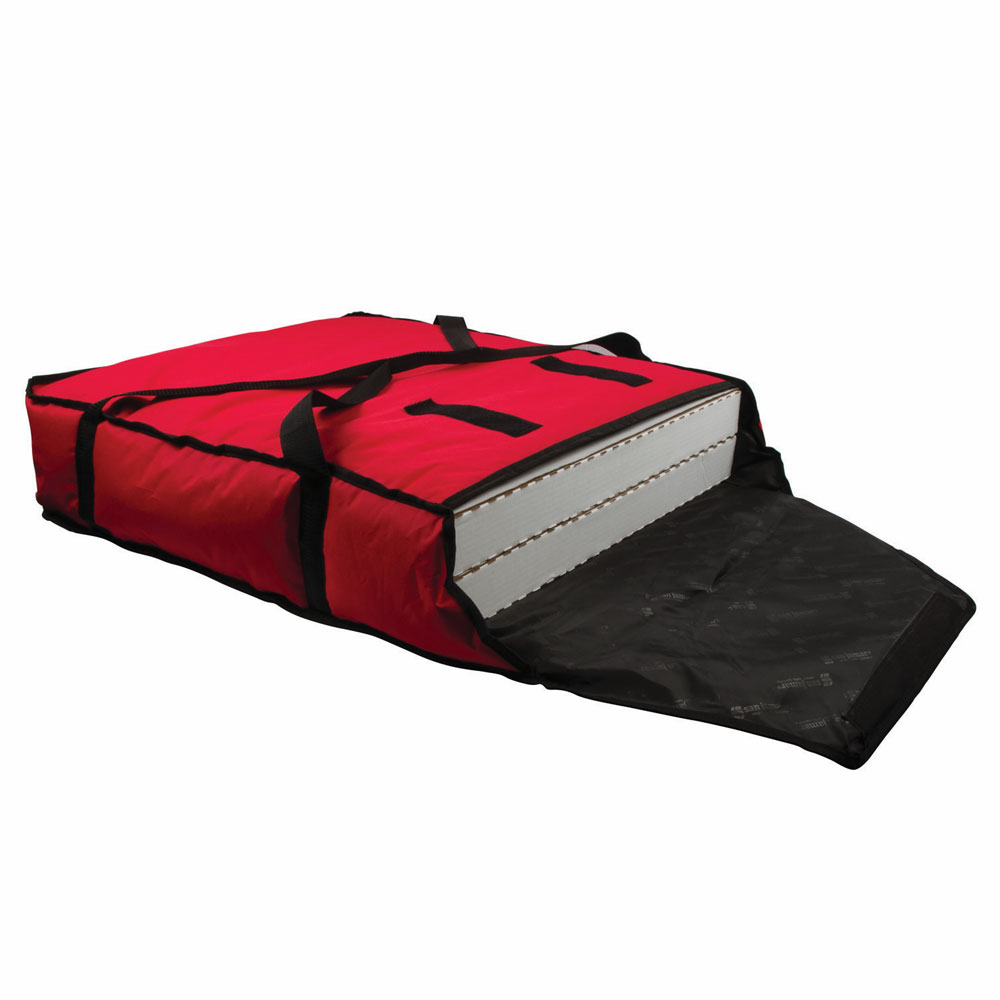 "San Jamar PB25 Pizza Delivery Bag, 25 x 26 x 6"", Red"