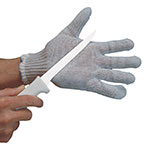 San Jamar PBS301-L Wire Guard Butcher Glove w/ Cotton Liner, Ambidextrous, Large