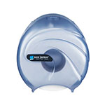 "San Jamar R2090TBL 9"" Single Jumbo Toilet Tissue Dispenser, Translucent Arctic Blue"