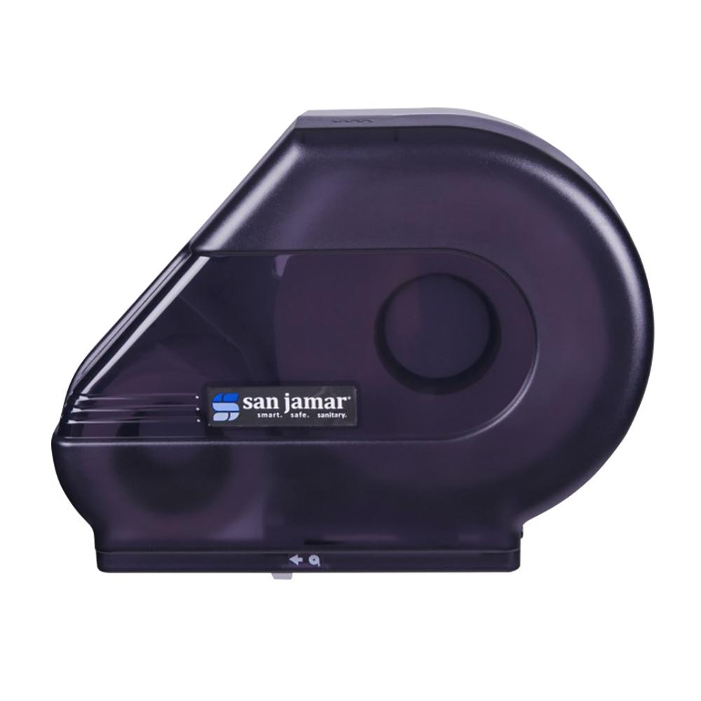 San Jamar R3000TBK Classic Reserva Jumbo Toliet Tissue Dispenser, W/ Stub Roll, Translucent Black