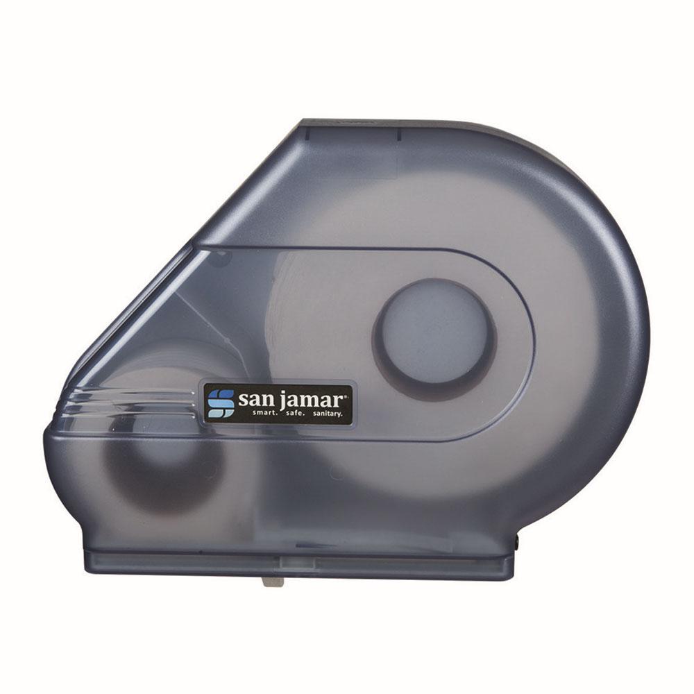 San Jamar R3000TBL Classic Reserva Jumbo Toliet Tissue Dispenser, W/ Stub Roll, Translucent Blue