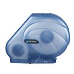 San Jamar R3090TBL Oceans Kolor-Cut Reserva Jumbo Toliet Tissue Dispenser, Translucent Blue