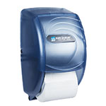 San Jamar R3590TBL Ocean Kolor-Cut Duett Bath Tissue Dispenser, Holds 2 Rolls, Trans Arctic Blue