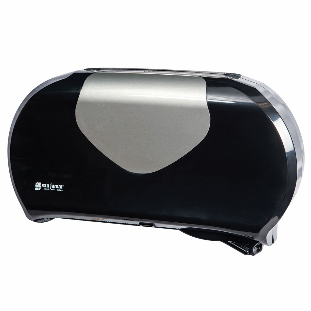 San Jamar R4070BKSS Toilet Paper Dispenser - Fits (2) 9 J...