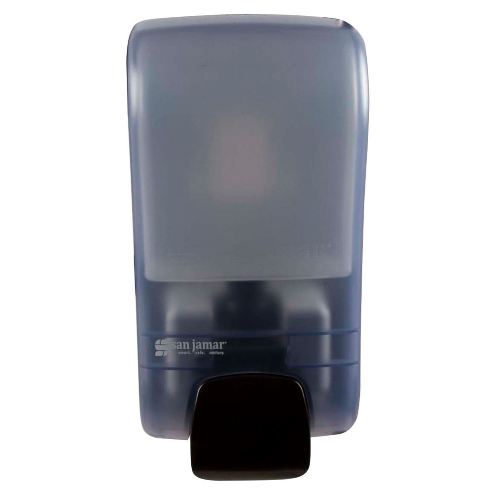 San Jamar S1300TBL 1300-mL Wall-Mount Soap Dispenser - Manual, Arctic Blue