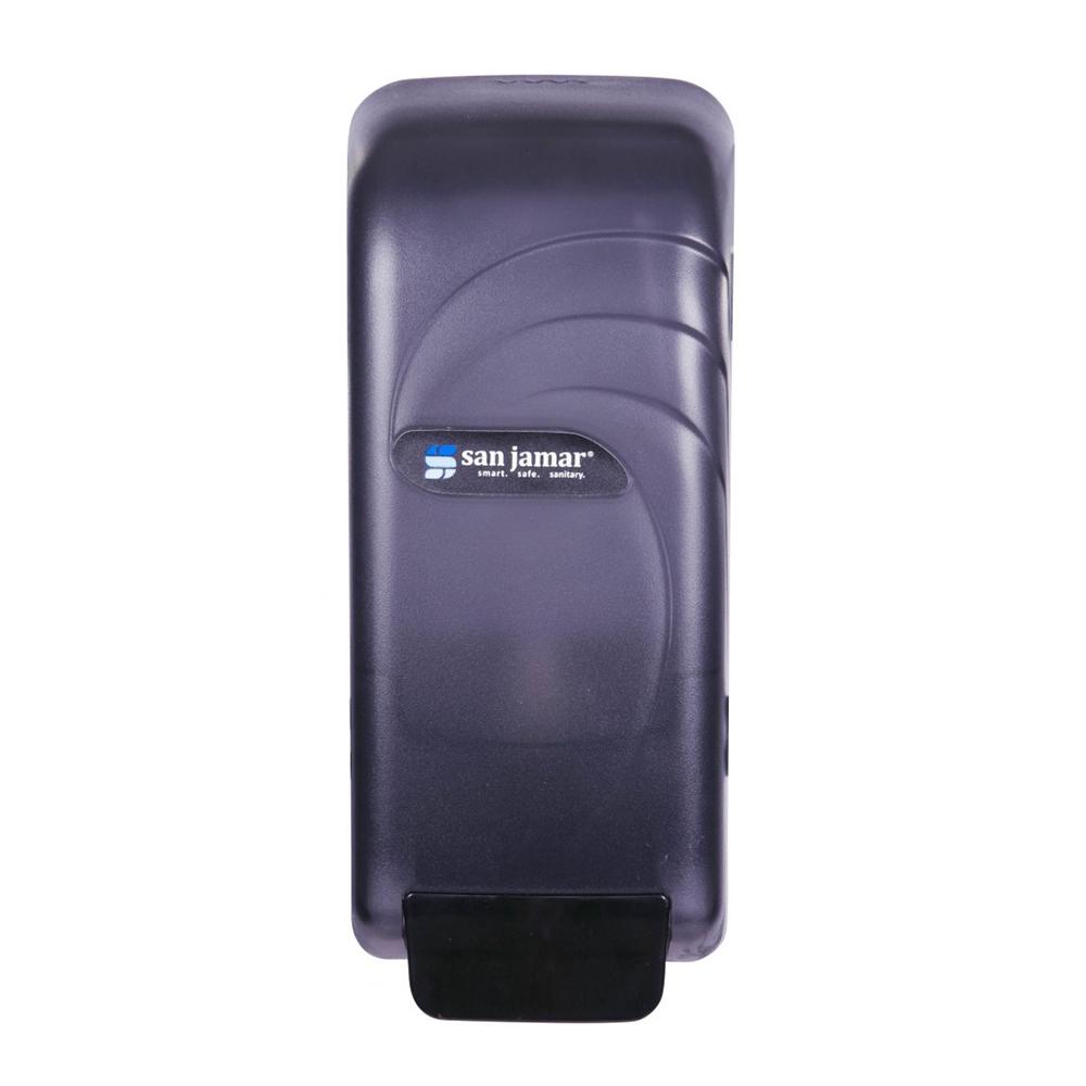 San Jamar S890TBK Wall Mount Soap Dispenser, Bulk or Bag-In-Box, Translucent Black Pearl