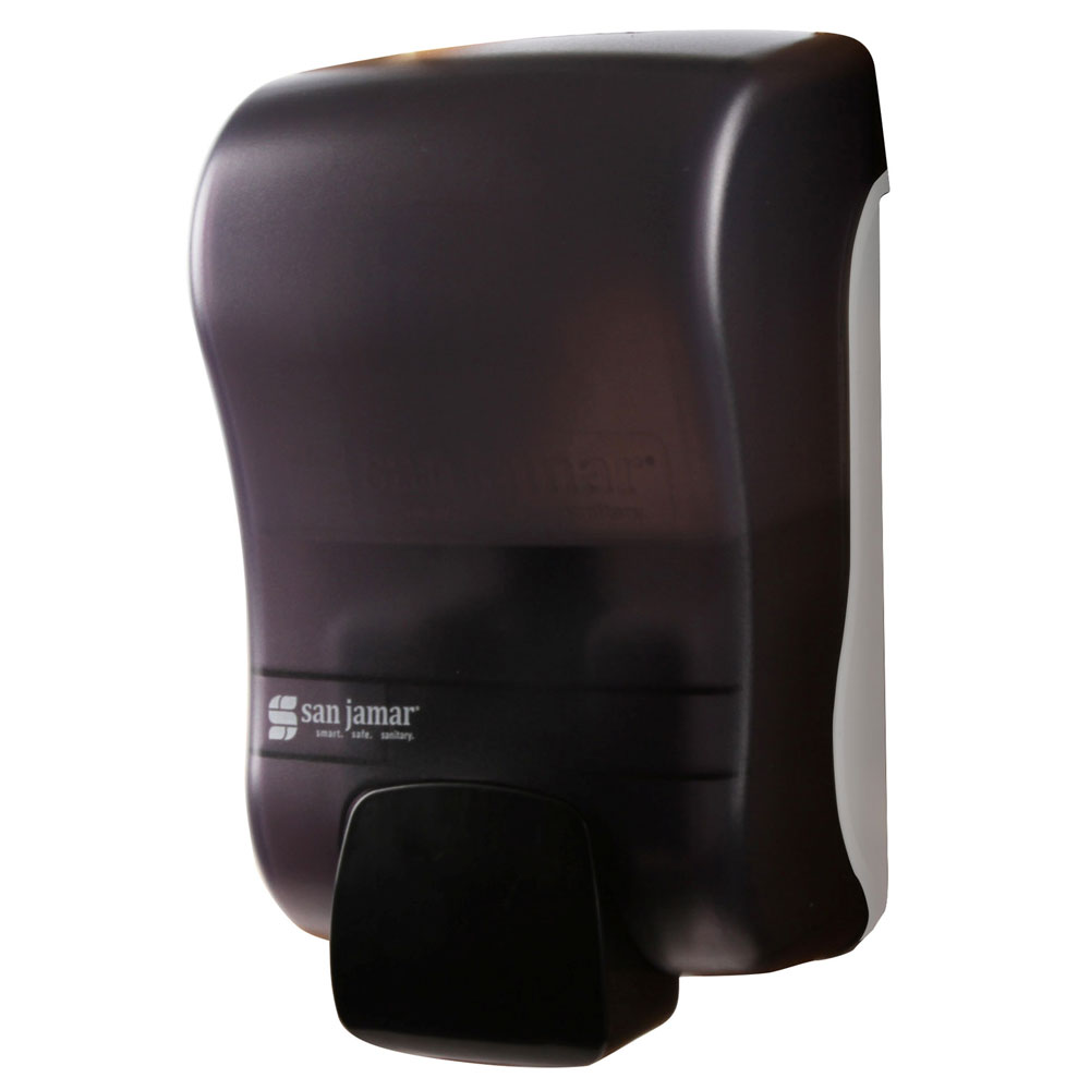 San Jamar S900TBK 900-mL Wall-Mount Liquid Soap Dispenser - Manual, Black Pearl