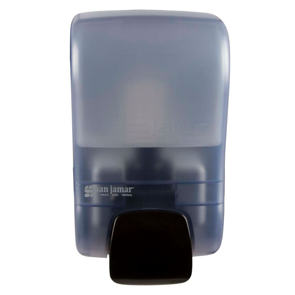 San Jamar S900TBL 900-mL Wall-Mount Soap Dispenser - Manual, Arctic Blue