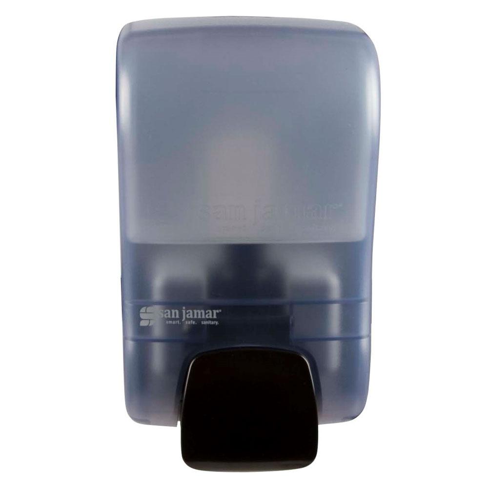 San Jamar S900TBL 900-mL Wall-Mount Soap Dispenser - Manual, Arctic Blue