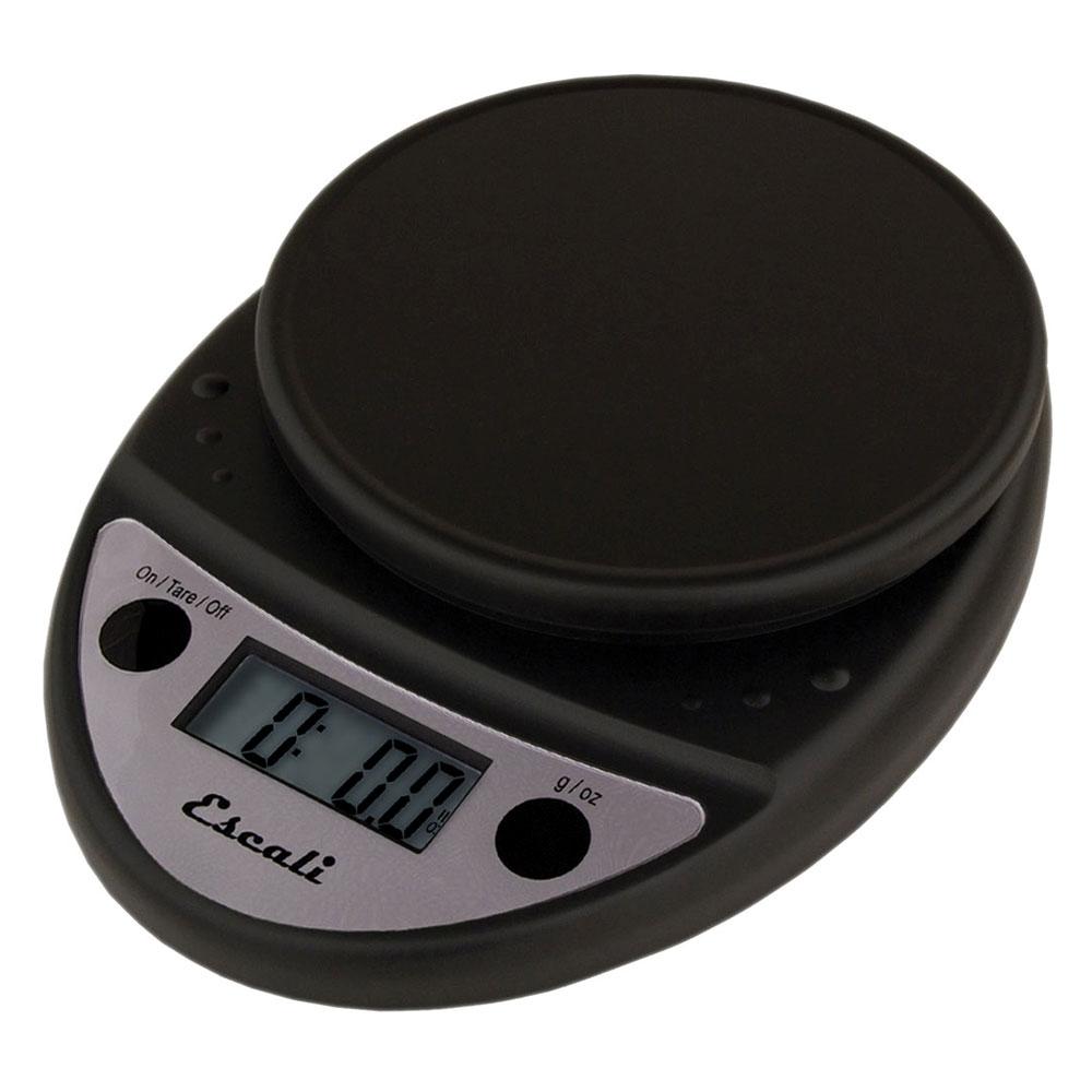 "San Jamar SCDG11BK Escali 11-lb Round Digital Scale - 8.5"" x 6"", Charcoal"