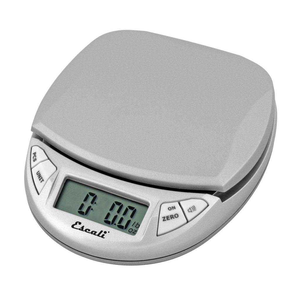 """San Jamar SCDG11GYR Escali 11-lb Handheld Digital Scale - 4.5"""" x 4"""", Silver Gray"""