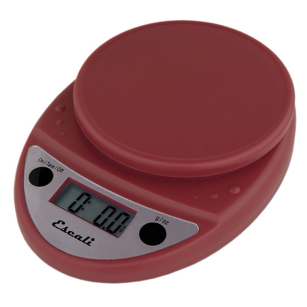 "San Jamar SCDG11RDR Escali 11-lb Digital Scale - 8.5"" x 6"", Warm Red"