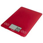 """San Jamar SCDG15RDR Escali 15-lb Digital Scale w/ Glass Platform - 9"""" x 6.5"""", Retro Red"""