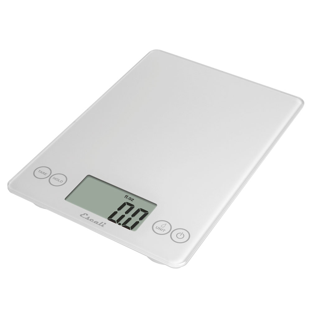 "San Jamar SCDG15WHR Escali 15-lb Digital Scale w/ Glass Platform - 9"" x 6.5"", White"