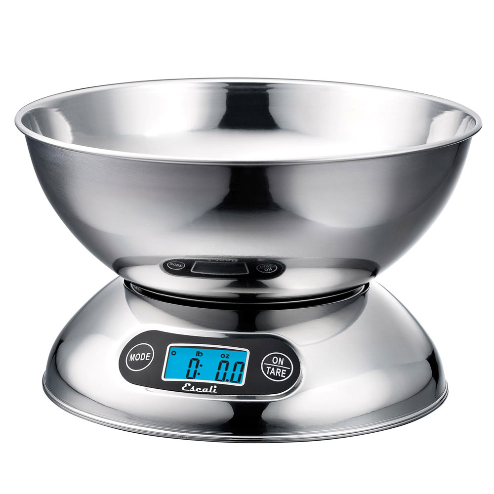 San Jamar SCDGB11 Escali 11-lb Digital Scale w/ 2-qt Removable Bowl, Stainless