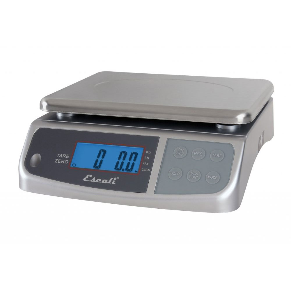 "San Jamar SCDGM33 Escali 33-lb Digital Scale w/ Removable Platform - 10.25"" x 11.75"", Stainless Steel"