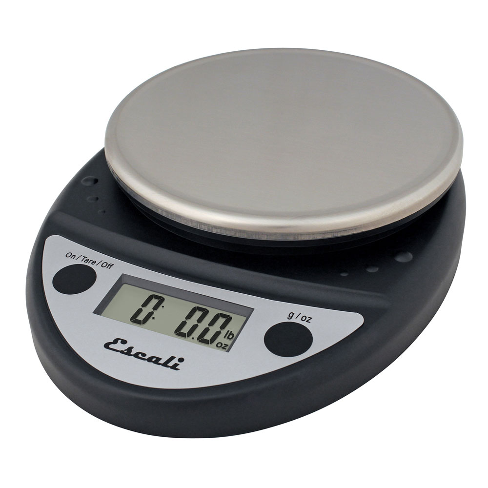 San Jamar SCDGP11BK Escali 11-lb Round Digital Scale w/ R...