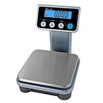 "San Jamar SCDGPCM13 Escali 13-lb Digital Portion Control Scale w/ Removable Platform - 6.38"" x 6.38"", Stainless"