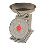 "San Jamar SCDLB11 Escali 11-lb Dial Scale w/ Removable Bowl - 6"" x 6"", Stainless"