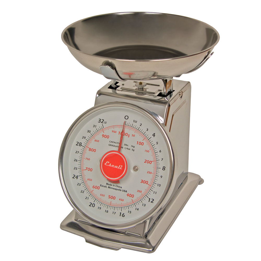 San Jamar SCDLB2 Escali 2-lb Dial Scale w/ Removable Plat...