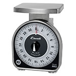 "San Jamar SCMDL2 Escali 2-lb Mechanical Dial Scale - 4.63"" x 6"", Stainless Steel"
