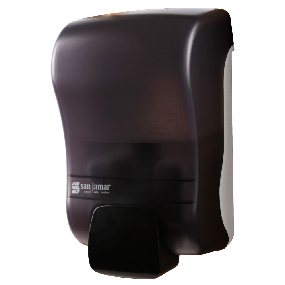 San Jamar SF900TBK 900-mL Wall-Mount Foam Soap Dispenser - Manual, Black Pearl