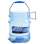 San Jamar SI6000 Round Ice Tote w/ 6-gal Capacity, Clear Blue