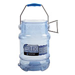 San Jamar SI6100 Round Ice Tote w/ 5-gal Capacity, Clear Blue