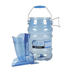 San Jamar SI8500 Round Ice Tote w/ 6-Gallon Capacity, Blue