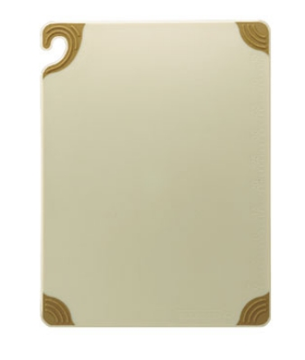 San Jamar CBG121812BR Cutting Board, Dishwasher Safe, 12 x 18 x .5-in, Co-Polymer, Brown