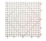 San Jamar VM5280CL-12 Interlocking Bar Mat Tile Shelf Liner, Rubber, Grease Resistant, 12-in Sq, Clear