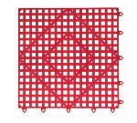 San Jamar VM5280RD-12 Interlocking Bar Mat Tile Shelf Liner, Rubber, Grease Resistant, 12-in Sq, Red