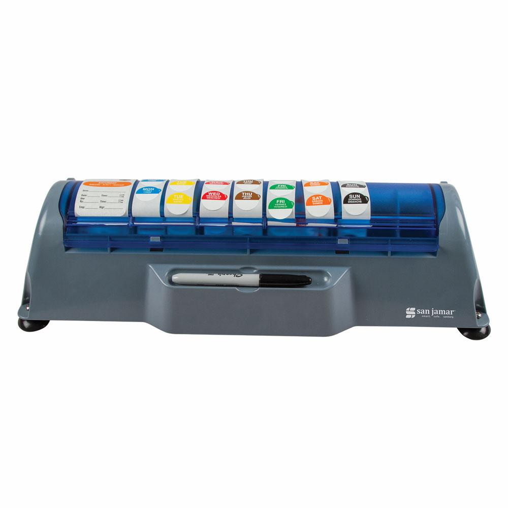 San Jamar STL511 Countertop Saf-T-Label Dispenser for 3/4...