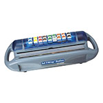 San Jamar SW1218 Safety Wrap Station Dispenser, Film or Foil Rolls, 12-18 in, Label Dispenser