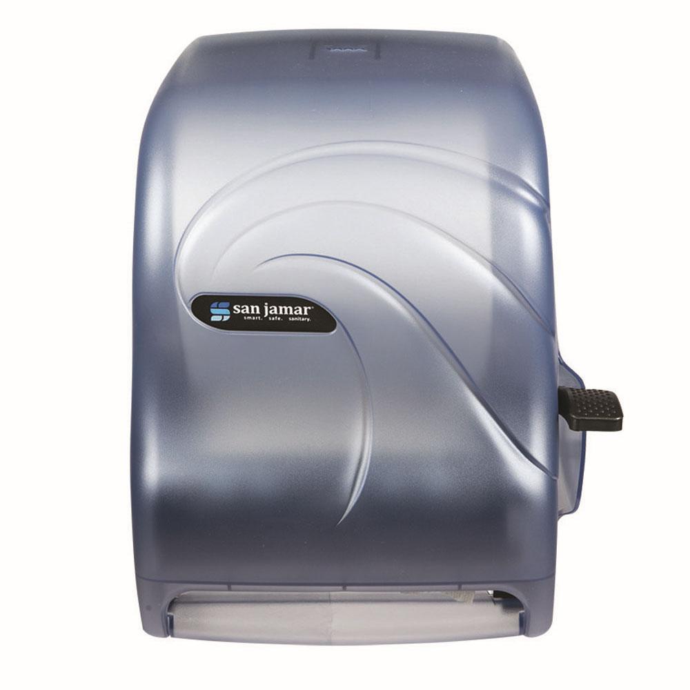 San Jamar T1190TBL Paper Towel Dispenser w/ Lever Action, Arctic Blue